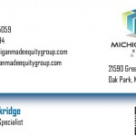 Horizontal Business Card